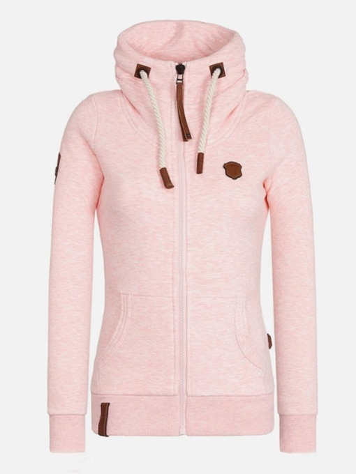 Zipper Regular Standard Women's Hoodie
