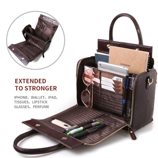 PU Plain Quilted Lining Flap Versatile Tote Bags