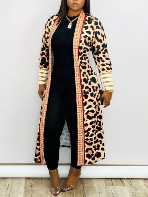 Long Print Western Women's Trench Coat