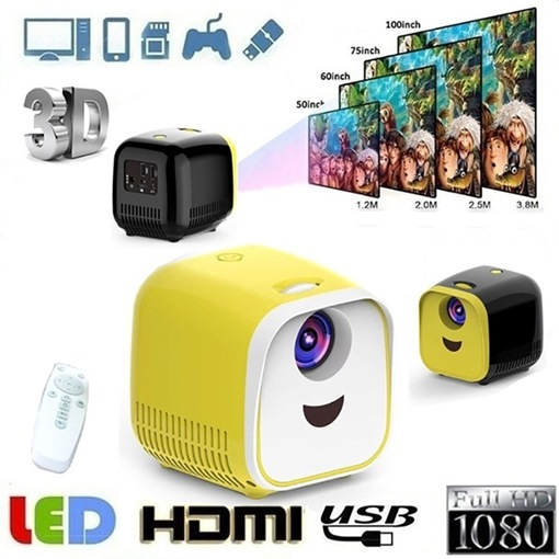 Children's Home Mini Mini Portable LED Projector Home Projection