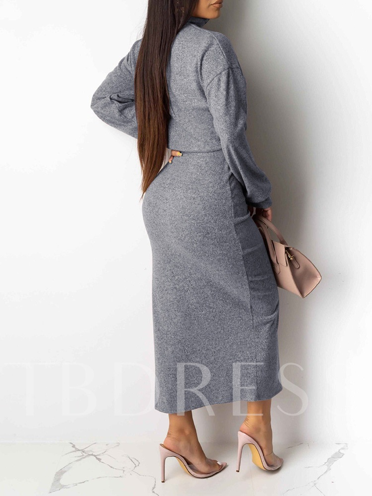 Casual Plain Pullover Long Sleeve Women's Two Piece Sets