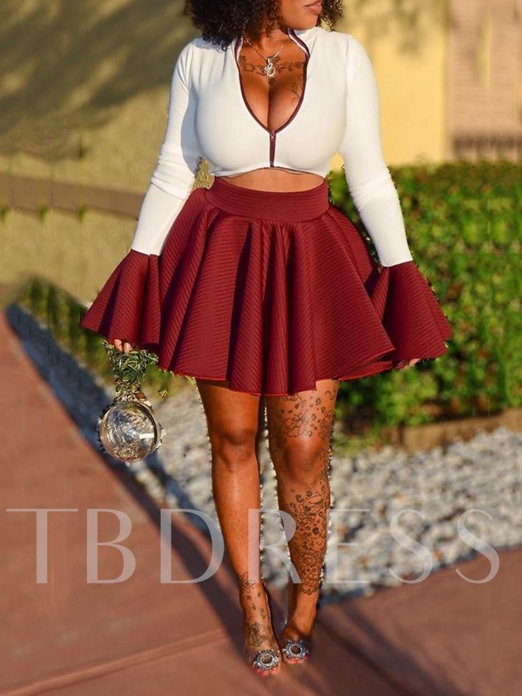 Sexy Plain Casual Women's Two Piece Sets