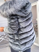 Loose Zipper Mid-Length Fashion Women's Cotton Padded Jacket