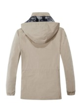 Hooded Thick Plain Straight Men's Jacket