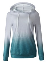 Color Block Hooded Women's Hoodie