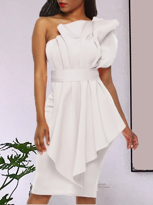 Pleated Knee-Length Sleeveless Party/Cocktail Women's Dress