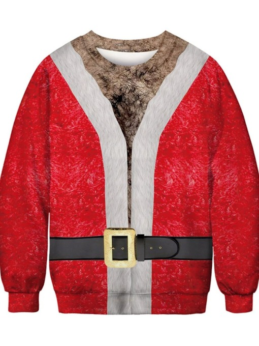 Ugly Christmas Sweaters 2019 Print Pullover Thick Loose Men's Hoodies