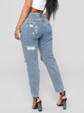Hole Slim Casual Women's Jeans