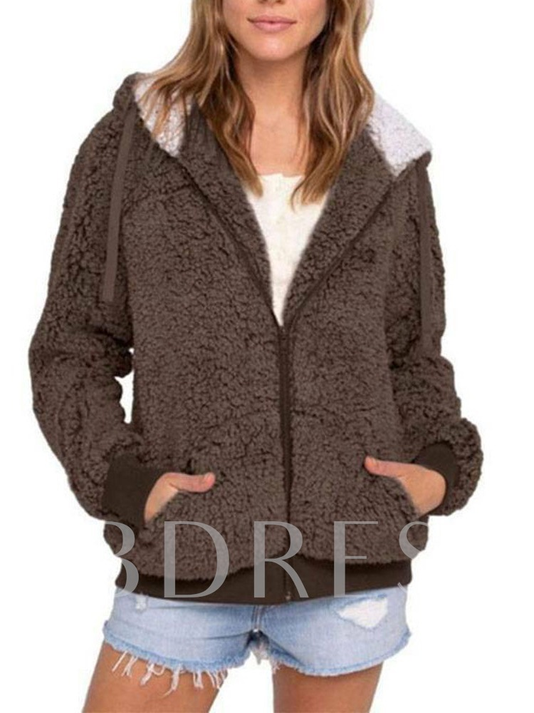 Zipper Loose Standard Fur Women's Jacket