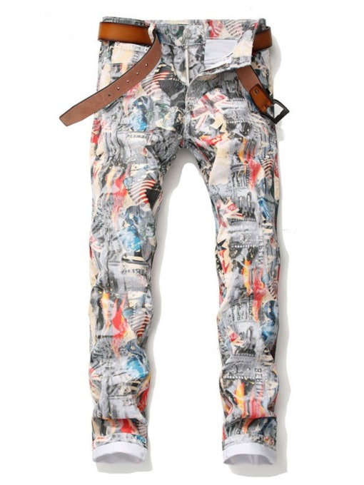Printed Style European Men's Casual Pants