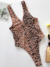 Leopard One Piece Sexy Print Women's Swimwear