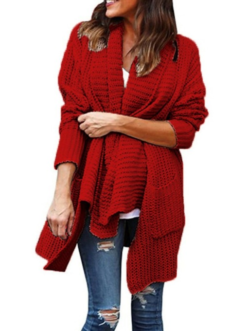 Pocket Regular Christmas Knit Women's Sweater