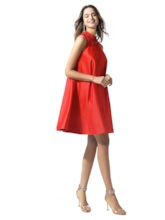 High Neck Beading Red Cocktail Dress 2020