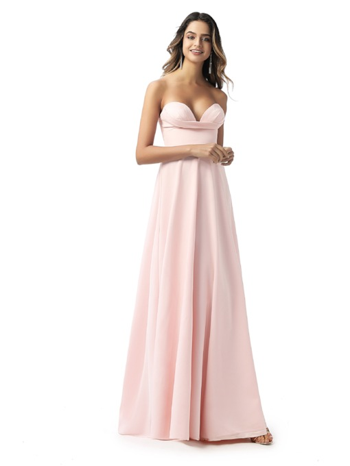 A-Line Sweetheart Empire Waist Bridesmaid Dress 2020