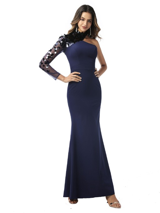 High Neck Mermaid Sequins Evening Dress 2020