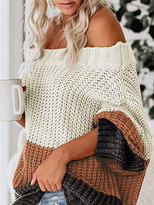 Loose Off the Shoulder Women's Sweater