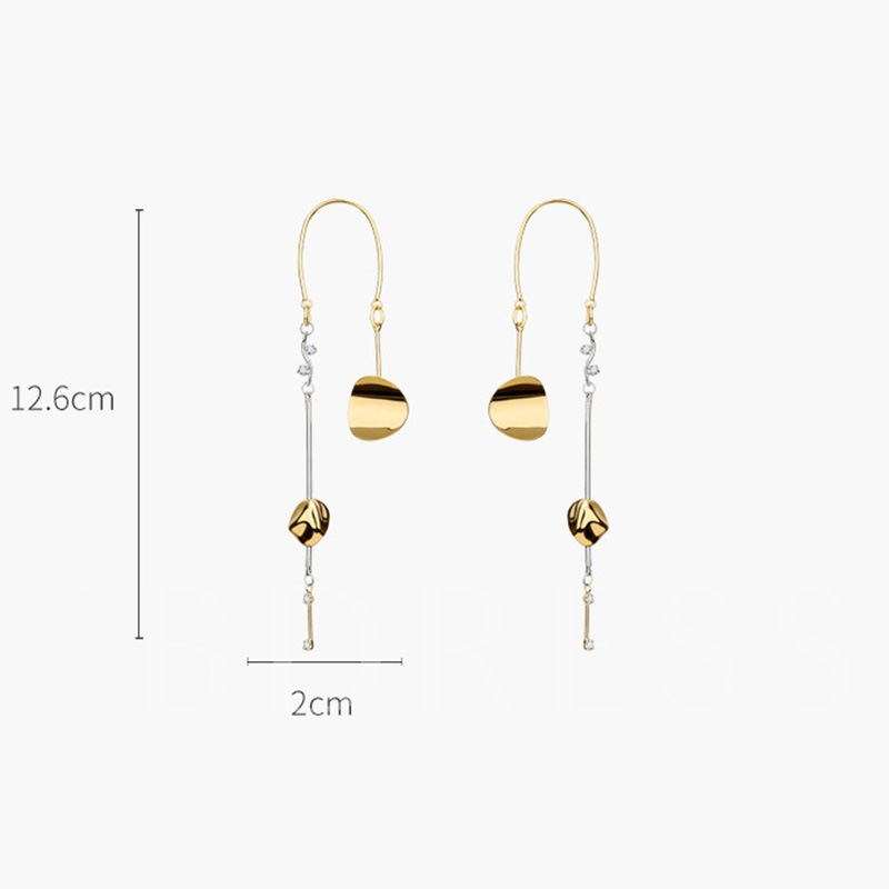 Bronze European E-Plating Anniversary Drop Earrings