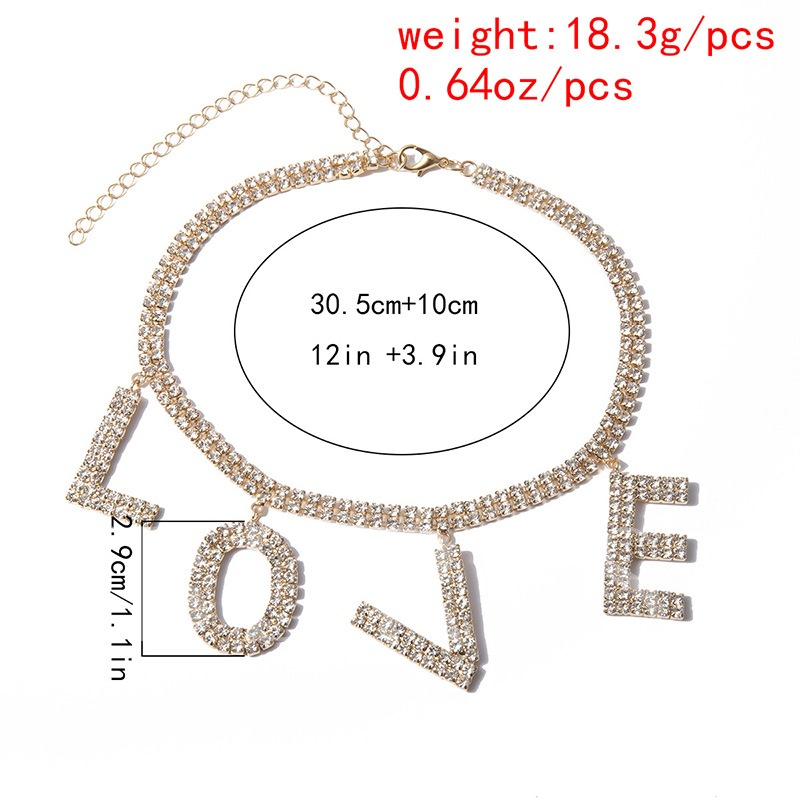 Letter European Female Sexy Pendant Necklace