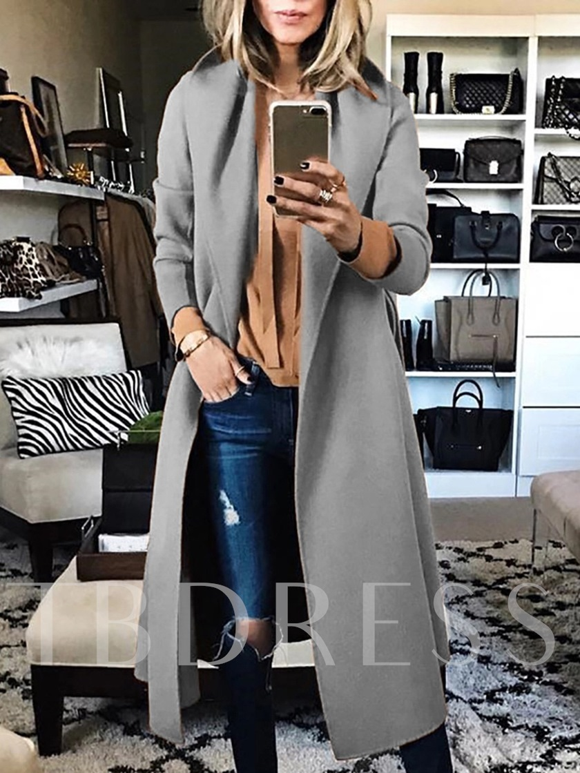 A Line Long Women's Overcoat