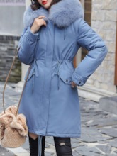 A Line Mid-Length Women's Cotton Padded Jacket