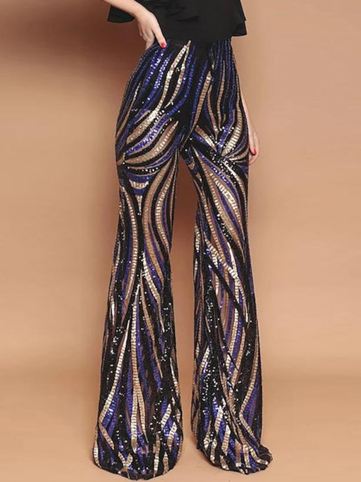 Slim Sequin Women's Casual Pants