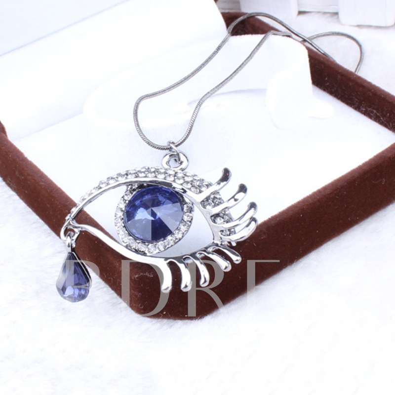 Devil Eyes Sweet Crystal Inlaid Female Pendant Necklace