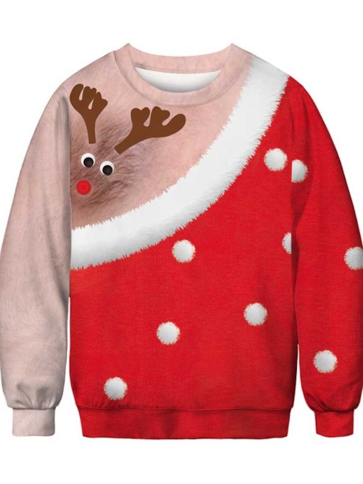 Ugly Christmas Sweaters 2019 Color Block Casual Style Men's Hoodies