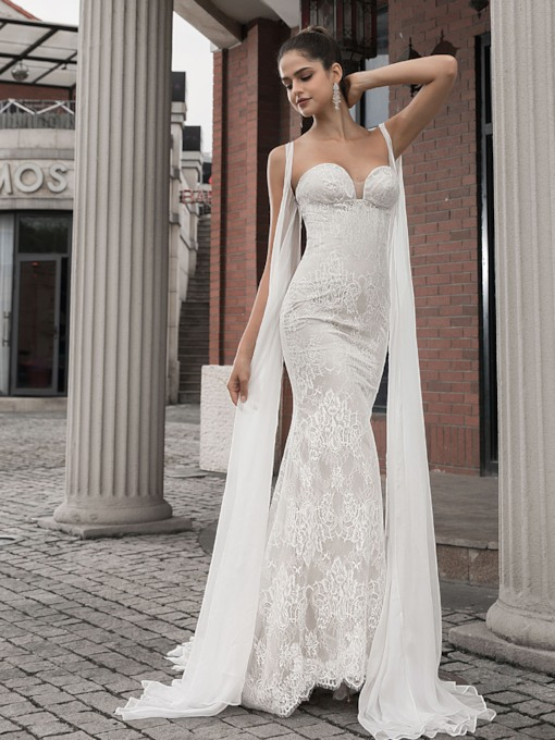 Sweetheart Lace Mermaid Wedding Dress 2020