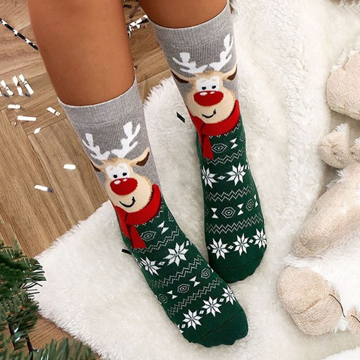 Christmas Mid-Calf Length Cartoon Socks