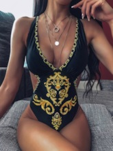 African Fashion Dashiki One Piece Sexy Women's Swimwear
