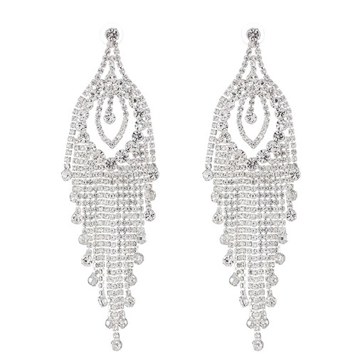 Rhinestone European Diamante Party Drop Earrings
