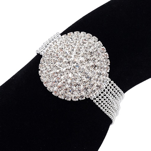 Diamante Romantic Plain Female Bracelets