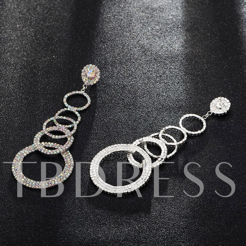 Diamante Romantic Rhinestone Holiday Drop Earrings