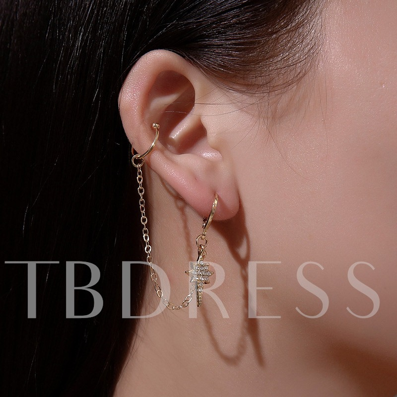 Sweet Bronze Diamante Anniversary Ear Cuffs