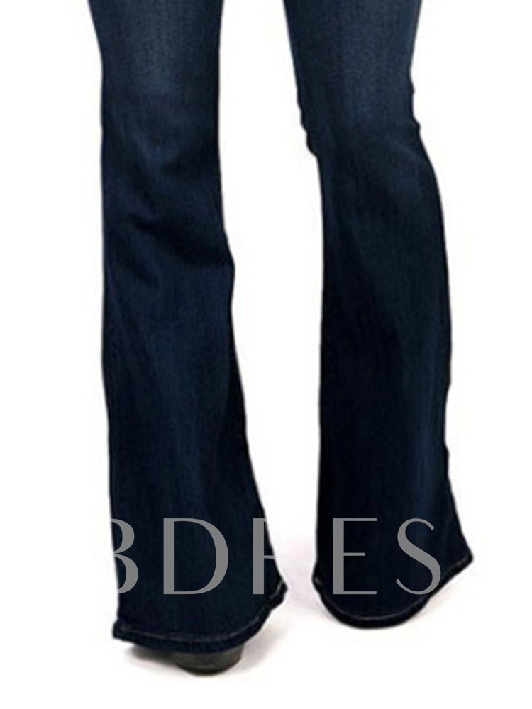 Worn Bellbottoms Slim Women's Jeans