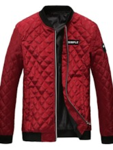 Color Block Patchwork Stand Collar Casual Men's Down Jacket