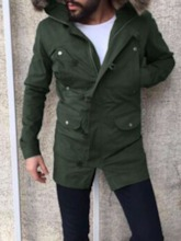 Color Block Patchwork Hooded Casual Men's Jacket