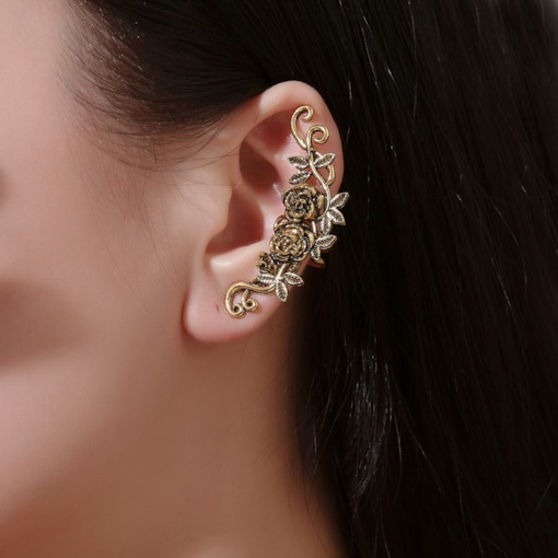 Alloy Floral E-Plating Anniversary Ear Cuffs