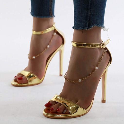 Stiletto Heel Heel Covering Line-Style Buckle Sexy Sandals
