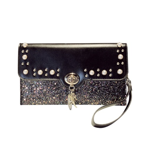 Sequins Plain PU Rectangle Banquet Crossbody Bags