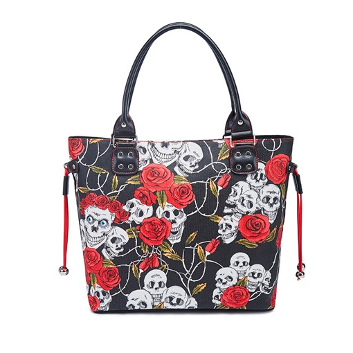 Floral PU Thread Rectangle Tote Bags