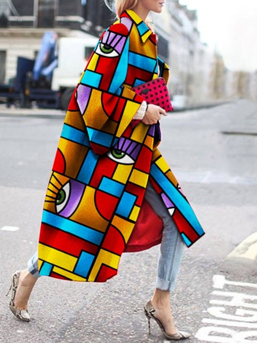 Loose Long Fashion Streetwear Women's Overcoat