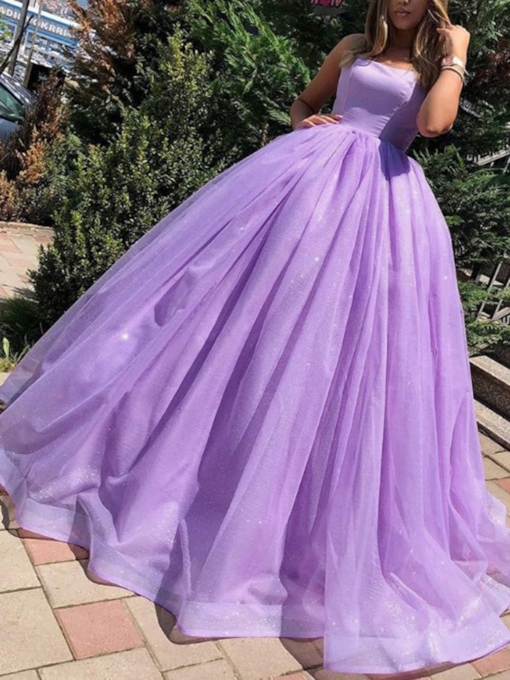 Spaghetti Straps Ball Gown Lilac Quinceanera Dress 2020