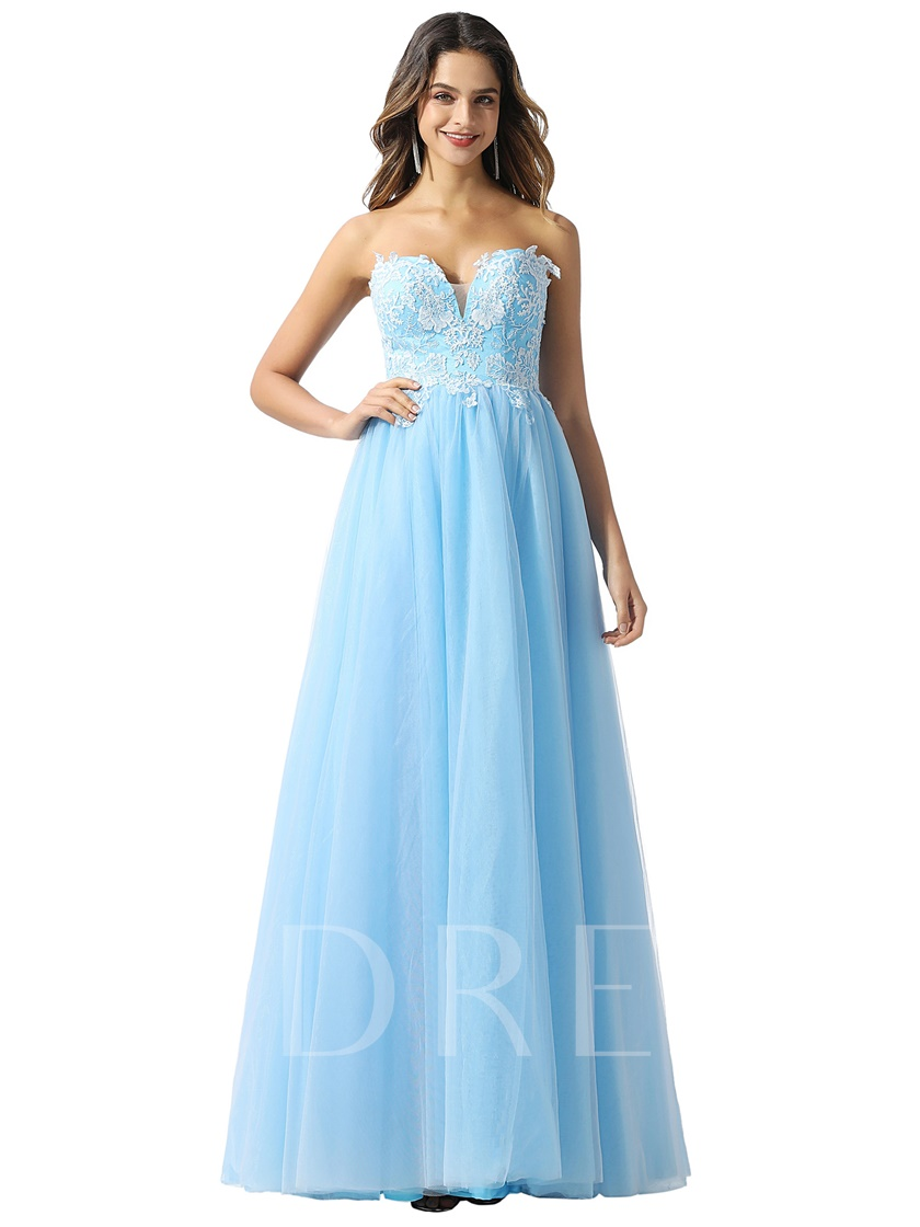 Sweetheart Appliques A-Line Prom Dress 2020