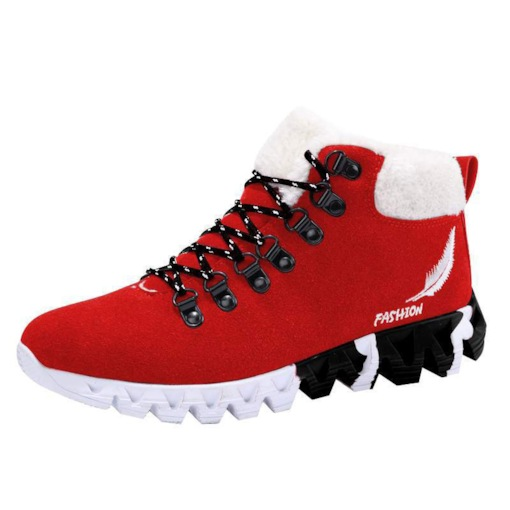 Round Toe Lace-Up Front Color Block Winter Men's Sneakers