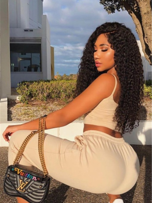 Curly Full Lace Cap Synthetic Hair with26 Inches Wigs