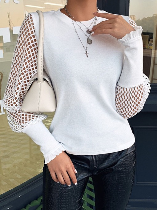 Hollow Patchwork Thin Women's Sweater