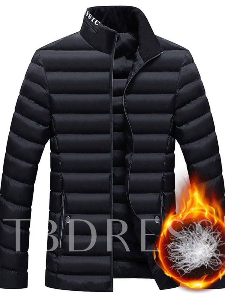 Letter Printed Casual Men's Down Jacket