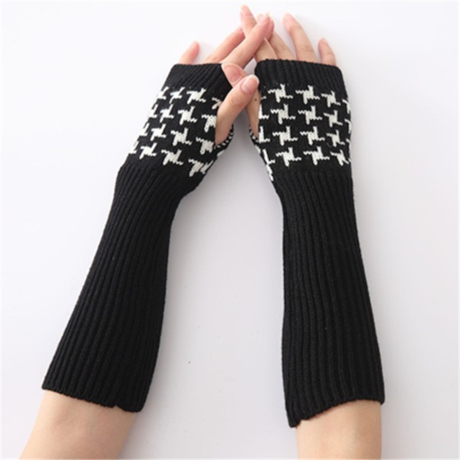 Acrylic Houndstooth Casual Winter Gloves