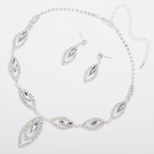 diamante collier ensembles de bijoux de bal romantique
